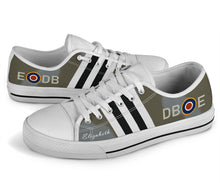 "Load image into Gallery viewer, Spitfire NH341 ""Elizabeth"" Inspired Women's Low Top Canvas Shoes - I Love a Hangar"