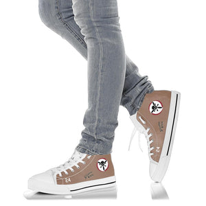 "B-24 ""Strawberry Bitch"" Inspired Women's High Top Canvas Shoes - I Love a Hangar"