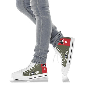 "B-17G ""Texas Raiders"" Inspired Men's High Top Canvas Shoes - I Love a Hangar"