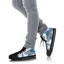 Load image into Gallery viewer, 65th Aggressor Squadron Inspired Men's High Top Canvas Shoes - I Love a Hangar