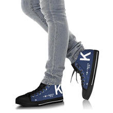 Load image into Gallery viewer, F4U-7 Corsair of Jesse Brown Inspired Women's High Top Canvas Shoes - I Love a Hangar