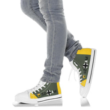 "Load image into Gallery viewer, Junkers Ju-87 ""Stuka"" Inspired Women's High Top Canvas Shoes - I Love a Hangar"