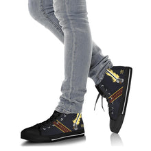 "Load image into Gallery viewer, VAQ-136 ""The Gauntlets"" Inspired Women's High Top Canvas Shoes - I Love a Hangar"