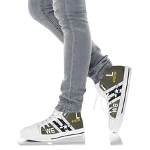 "Load image into Gallery viewer, C-47 ""Willa Dean"" Inspired Women's High Top Canvas Shoes - I Love a Hangar"