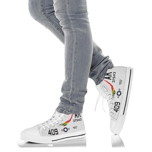 "VA-176 ""Thunderbolts"" Inspired Women's High Top Canvas Shoes - I Love a Hangar"