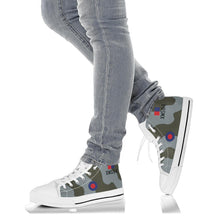 Load image into Gallery viewer, RAF Avro Vulcan XM594 Inspired Men's High Top Canvas Shoes - I Love a Hangar