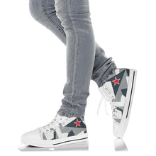 "Load image into Gallery viewer, Su-35S Flanker ""Arctic Splinter"" Inspired Women's High Top Canvas Shoes - I Love a Hangar"