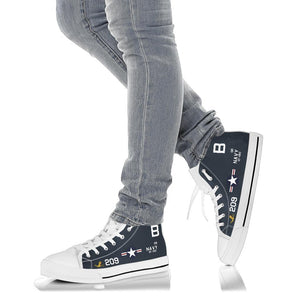 F9F-5 Panther VF-192 Inspired Women's High Top Canvas Shoes - I Love a Hangar