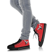 Load image into Gallery viewer, VFA-102 Diamondbacks Inspired Women's High Top Canvas Shoes - I Love a Hangar