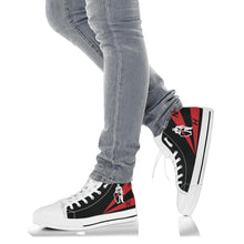 Load image into Gallery viewer, VFA-154 Black Knights Inspired Women's High Top Canvas Shoes - I Love a Hangar