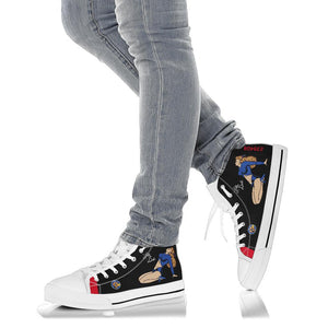 "P-61 ""Lady in the Dark"" Inspired Men's High Top Canvas Shoes - I Love a Hangar"