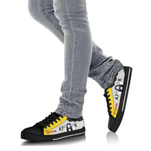 "Load image into Gallery viewer, P-51D ""Never Miss"" Inspired Men's Low Top Canvas Shoes - I Love a Hangar"
