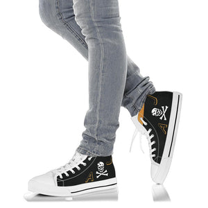 "VF-84 ""Jolly Rogers"" Inspired Women's High Top Canvas Shoes - I Love a Hangar"