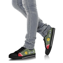 "Load image into Gallery viewer, P-51 ""Shangri-la"" Inspired Men's Low Top Canvas Shoes - I Love a Hangar"
