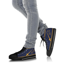 Load image into Gallery viewer, VF-32 Fighting Swordsmen Inspired Men's High Top Canvas Shoes - I Love a Hangar