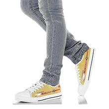 "Load image into Gallery viewer, Canadair Sabre ""Golden Hawks"" Inspired Women's Low Top Canvas Shoes - I Love a Hangar"