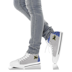 VF-213 Black Lions Inspired Women's High Top Canvas Shoes - I Love a Hangar