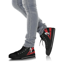 Load image into Gallery viewer, VFA-154 Black Knights Inspired Men's High Top Canvas Shoes - I Love a Hangar
