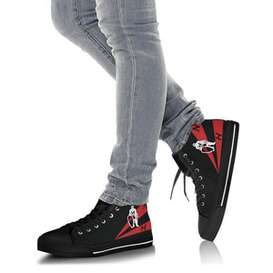 VFA-154 Black Knights Inspired Men's High Top Canvas Shoes - I Love a Hangar