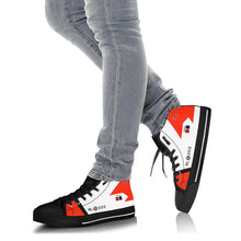 Load image into Gallery viewer, RCAF Avro Canada CF-105 Arrow #203 Inspired Women's High Top Canvas Shoes - I Love a Hangar