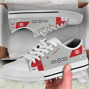 RCAF CT-114 Tutor Inspired Men's Low Top Canvas Shoes (#067) - I Love a Hangar