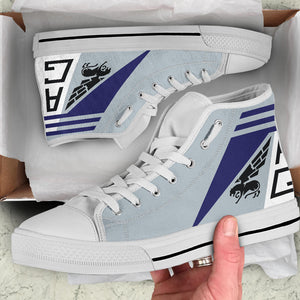 VF-143 Pukin' Dogs Inspired Men's High Top Canvas Shoes - I Love a Hangar