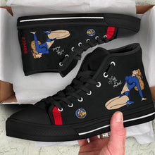 "Load image into Gallery viewer, P-61 ""Lady in the Dark"" Inspired Men's High Top Canvas Shoes - I Love a Hangar"
