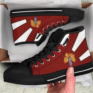 "VAQ-136 ""The Gauntlets"" Inspired Women's High Top Canvas Shoes - I Love a Hangar"