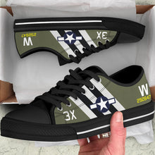 "Load image into Gallery viewer, C-47 ""That's All, Brother"" Inspired Men's Low Top Canvas Shoes - I Love a Hangar"