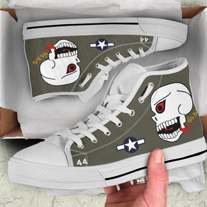 "P-40N ""The Burma Banshees"" Inspired Women's High Top Canvas Shoes - I Love a Hangar"