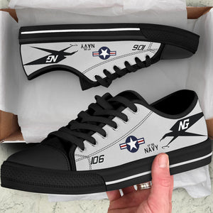 "VF-96 ""Fighting Falcons"" Inspired Men's Low Top Canvas Shoes - I Love a Hangar"