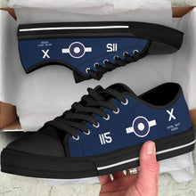 Load image into Gallery viewer, FG-1D Corsair of Lt. Robert Gray VC Inspired Men's Low Top Canvas Shoes - I Love a Hangar
