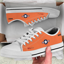 "Load image into Gallery viewer, Bell X-1 ""Glamorous Glennis"" Inspired Women's Low Top Canvas Shoes - I Love a Hangar"