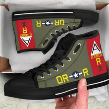 "Load image into Gallery viewer, B-17G ""Nine-O-Nine"" Tribute Men's High Top Canvas Shoes - I Love a Hangar"