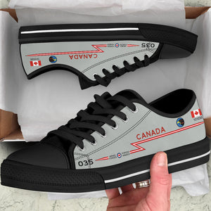RCAF CF-101 Voodoo 409 SQN Inspired Men's Low Top Canvas Shoes - I Love a Hangar