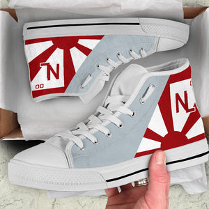 VF-111 Sundowners Inspired Women's High Top Canvas Shoes - I Love a Hangar