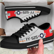 "Load image into Gallery viewer, P-51D ""Val-Halla"" Inspired Men's Low Top Canvas Shoes - I Love a Hangar"