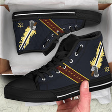 "Load image into Gallery viewer, VAQ-136 ""The Gauntlets"" Inspired Men's High Top Canvas Shoes - I Love a Hangar"