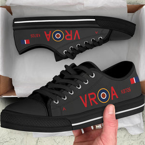 Lancaster VR-A Inspired Women's Low Top Canvas Shoes (Black) - I Love a Hangar