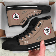 "Load image into Gallery viewer, B-24 ""Strawberry Bitch"" Inspired Women's High Top Canvas Shoes - I Love a Hangar"