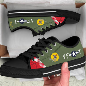 "P-51 ""Shangri-la"" Inspired Women's Low Top Canvas Shoes - I Love a Hangar"