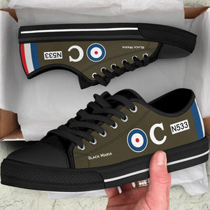 Sopwith Triplane of Raymond Collishaw Inspired Women's Low Top Canvas Shoes - I Love a Hangar