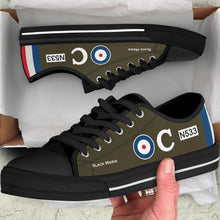 Load image into Gallery viewer, Sopwith Triplane of Raymond Collishaw Inspired Men's Low Top Canvas Shoes - I Love a Hangar