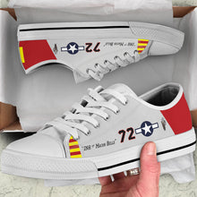 "Load image into Gallery viewer, P-51C ""Ina The Macon Belle"" of Lt.Col. Lee Archer Jr Men's Low Top Canvas Shoes - I Love a Hangar"