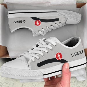 Lee Lue RLAF T-28D Inspired Women's Low Top Canvas Shoes - I Love a Hangar