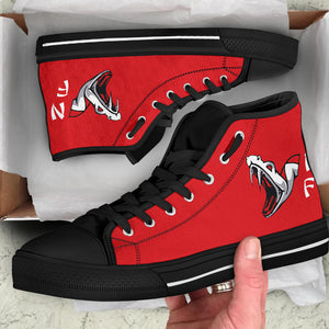 VFA-102 Diamondbacks Inspired Women's High Top Canvas Shoes - I Love a Hangar