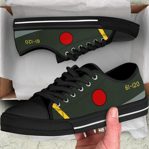 Mitsubishi A6M5 Zero Inspired Men's Low Top Canvas Shoes - I Love a Hangar