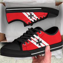 "Load image into Gallery viewer, Fokker Dr.I ""Red Baron"" Inspired Women's Low Top Canvas Shoes - I Love a Hangar"