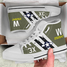 "Load image into Gallery viewer, C-47 ""That's All, Brother"" Inspired Men's High Top Canvas Shoes - I Love a Hangar"