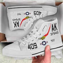 "Load image into Gallery viewer, VA-176 ""Thunderbolts"" Inspired Men's High Top Canvas Shoes - I Love a Hangar"